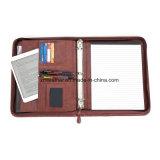 Прилив кожаный портфель Padfolio организатора конференции Папка с ручкой