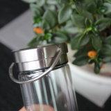 220мл крышкой из нержавеющей стали спорта стеклянная бутылка воды с сетчатым фильтром