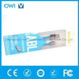 Câble de caractéristiques plat mince de Charger&Transfer avec le module bleu