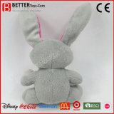 Brinquedo macio do coelho do animal enchido do luxuoso do coelho do presente da promoção para miúdos do bebê