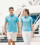 2019 Dernières nouvelles fibres de lin Short-Sleeve Design personnalisé de l'été T-shirt Polo