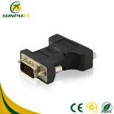 Adaptateur sonore mâle noir de convertisseur de fibre optique de DVI