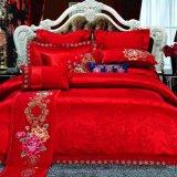 機械によって刺繍される純粋な綿かMicrofiberのホーム織物の寝具キット