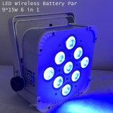 Luz sin hilos de la colada de la IGUALDAD de la batería 15wx9 LED del control