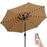Зонтик лампы освещения строки 8 режима яркости, работает от батареи водонепроницаемый открытый зонтик Столб света для патио зонтики кемпинг палатки