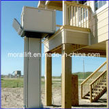 Для использования вне помещений вертикального подъема инвалидных колясок для дома