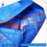 China Blue 50kg bolsa de plástico tejida PP