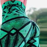 A impressão digital padrão aranha Ioga Perneiras com elevação do quadril e calças de fitness de cintura elevada para as mulheres