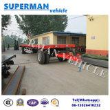 20t農業の使用の貨物平面完全な引っ張り棒のトレーラー