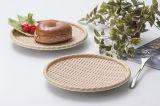 Comme la plaque ronde en bois de mélamine Sushi Dîner de la plaque de la plaque (NK13811-09)