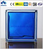Jinghua高品質によって着色される緑の190X190X80mmのガラスレンガかブロック