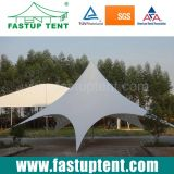 中国の製造業者のOutdoorfestivalの直径8mのための白い星の陰のテント30人のSeaterのゲスト