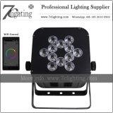 Iluminación sin hilos de la etapa de la iluminación 12PCS RGBWA+UV WiFi del LED