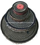Roda de lustro lustrando do algodão do ponto da cor para o metal