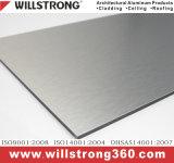 Панель фасада алюминиевая составная для серого цвета