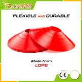 Conjunto al por mayor del cono del disco de 50 conos multi flexibles del color (rojo, azul, amarillo, verde, anaranjado), con el portador plástico para tomarlo con usted por todas partes