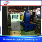 Schweißungs-Rohr-Quadrat-Gefäß CNC-Plasma-Loch-bohrende Scherblock-Maschine