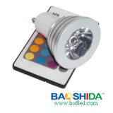 3 het LEIDENE van watts Gu10 Licht van Dimmable (BSD-D-gu10-3WF)