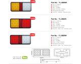 E-Aprobado 8pulgadas 2 Pod LED combinación de las luces del remolque