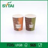 Tazas de papel y tapas cubiertas el PE al por mayor del café del uso del alimento y de la bebida