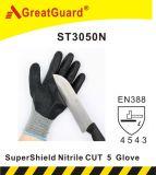 Нитрил Greatguard Supershield отрезал перчатку 5 (ST3050N)