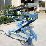 Lager stationärer hydraulischer Scisoor Aufzug-Tisch mit kippbarer Plattform (SJG0.4-0.7)