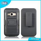 Caixa combinado do telefone de Kickstand do Holster da armadura do PC de TPU para a galáxia J1 2016 de Samsung