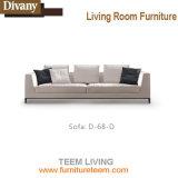 Sofá de sala de estar moderna com sofá de reclinação elétrico Canto de couro para móveis de casa