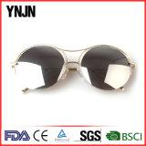 Óculos de sol de tamanho grande do meio frame do frame da liga de Ynjn