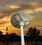 Tudo em um estojo compato solar do sistema da lâmpada do jardim do diodo emissor de luz da luz do sensor de movimento