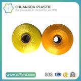 900d jaune et orange fil multifilament PP s'entremêlent