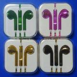 Цветные вкладыши наушники стерео наушников с микрофоном