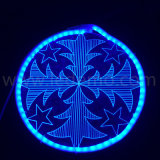 Luz de néon acrílica do motivo da decoração nova do festival do Natal do diodo emissor de luz 2017