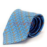 100% de tecido de seda impresso para gravatas Impressão de fios tingidos