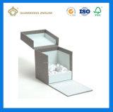 호화스러운 공상 종이에 의하여 감싸이는 마분지 향수 상자 (공단 삽입 쟁반에)