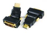270 grados que giran al varón DVI18+1 al adaptador masculino de HDMI