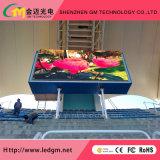 Diodo emissor de luz ao ar livre feito sob encomenda profissional da cor cheia P10 que anuncia a tela de indicador/painel/quadro de avisos