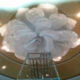 Lâmpada de cristal espetacular do pendente do projeto do hotel das flores grandes modernas decorativas do hotel