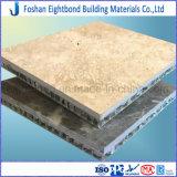 中国の製造のTravertineの大理石の石によって薄板にされる石造りのパネル