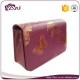 محفظة كبيرة, كبيرة [مولتيفونكأيشن] [بو] جلد محفظة محفظة مع يطبع فراشة