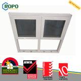 Окно PVC одиночное двойное повиснутое с экраном мухы