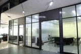 Cloison de séparation en verre en aluminium en bois de bureau moderne (NS-NW202)