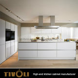 オーストラリアの食器棚Tivo-0078hのためのCusotmデザイン白いキャビネットが付いている上の台所食器棚