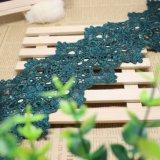 Merletto di nylon di immaginazione della guarnizione del ricamo del poliestere del merletto del commercio all'ingrosso 8cm della fabbrica del ricamo bicolore di riserva di larghezza per l'accessorio degli indumenti & tessile & tenda domestiche