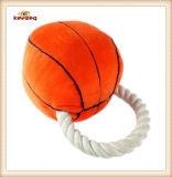 Juguete de la cuerda del perro del estilo del baloncesto del juguete de la felpa del animal doméstico (KB0025)