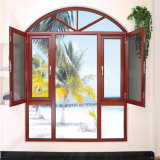 Finestra di alluminio della stoffa per tendine della finestra di vetro delle Filippine con il disegno della griglia e la rete di zanzara