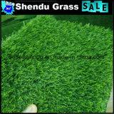 Reto verde + grama popular do Synthetic do fio 20mm da onda do verde