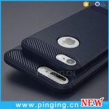 iPhoneのためのカーボンファイバーの携帯電話のケイ素の箱6/7のプラスのケース