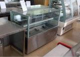 日本様式の直角のガラスケーキのショーケースのスリラーか表示冷却装置(R750V-M2)
