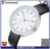 Yxl-394 moda em aço inoxidável de boa qualidade Senhoras tira de couro Relógios de quartzo relógio de pulso Slim mulheres encantador assistir